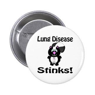 La enfermedad pulmonar apesta diseño de la concien pin redondo de 2 pulgadas