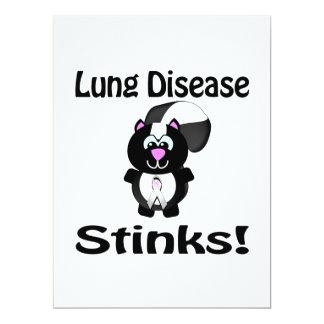 La enfermedad pulmonar apesta diseño de la invitaciones personalizada