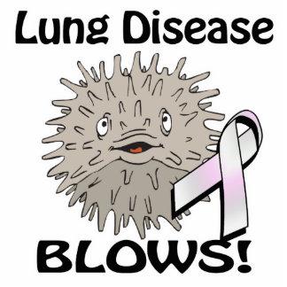 La enfermedad pulmonar sopla diseño de la concienc esculturas fotográficas