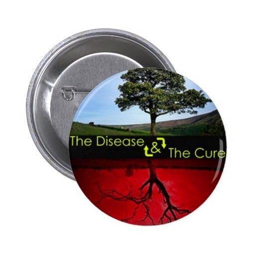 La enfermedad y el botón de la curación pins