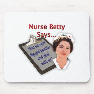 """La enfermera Betty dice, """"puesto sus bragas grande Tapetes De Ratones"""