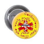 La ENFERMERA Confuscious dice Pins