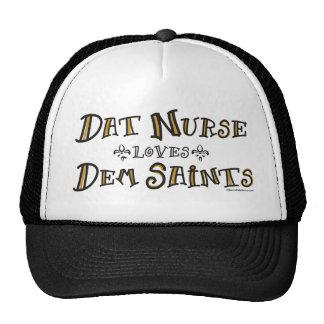 La enfermera de Dat ama a santos del Dem Gorros Bordados