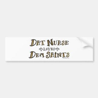 La enfermera de Dat ama a santos del Dem Pegatina Para Auto
