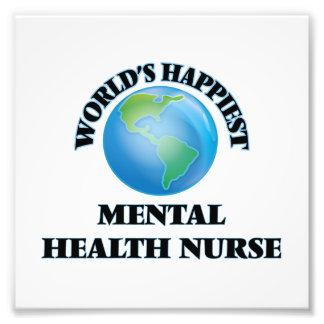 La enfermera de la salud mental más feliz del cojinete