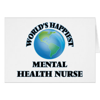 La enfermera de la salud mental más feliz del tarjeta pequeña