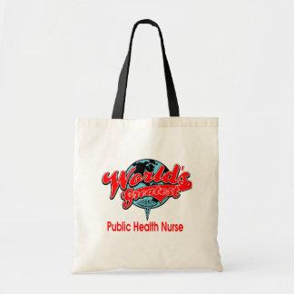 La enfermera de la salud pública más grande del mu bolsa tela barata
