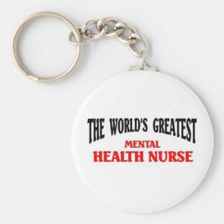 La enfermera de salud mental más grande llavero redondo tipo pin