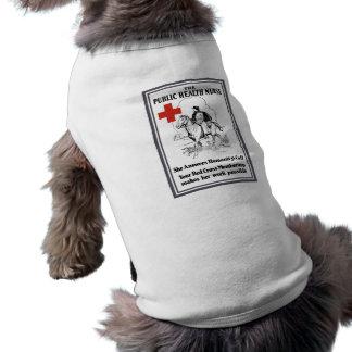 La enfermera de salud pública -- Cruz Roja Playera Sin Mangas Para Perro