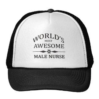 La enfermera de sexo masculino más impresionante d gorros bordados