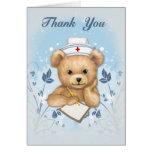 La enfermera de Teddybear le agradece