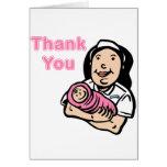 la enfermera del chica le agradece tarjeton