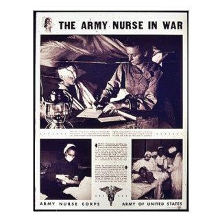 """La enfermera del ejército en guerra folleto 8.5"""" x 11"""""""
