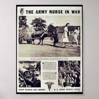 La enfermera del ejército en guerra poster
