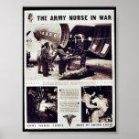 La enfermera del ejército en guerra posters