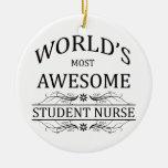 La enfermera del estudiante más impresionante del  ornamento de navidad