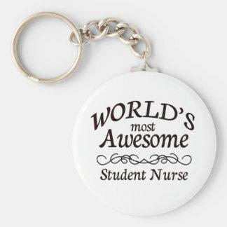 La enfermera del estudiante más impresionante del llavero redondo tipo pin