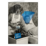 La enfermera divertida del perro del vintage consi