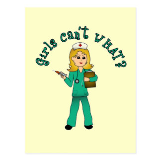 La enfermera en verde friega (el Blonde) Postales