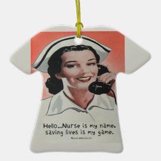 La enfermera es mi nombre ornamento para arbol de navidad