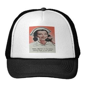 La enfermera es mi nombre gorras de camionero