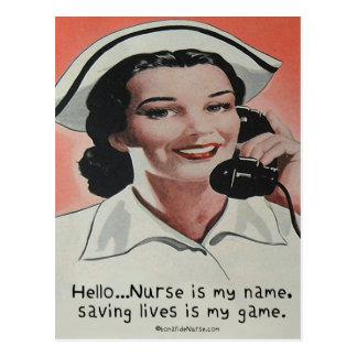 La enfermera es mi nombre tarjetas postales