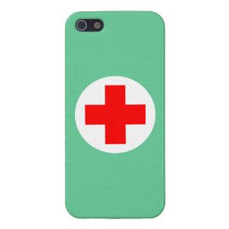 La enfermera friega verde iPhone 5 fundas
