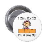 La enfermera I puede fijarlo las camisetas y los r Pin