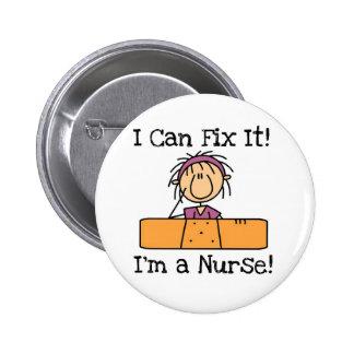 La enfermera I puede fijarlo las camisetas y los r Pin Redondo De 2 Pulgadas