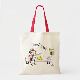 """La enfermera """"le agradece"""" los regalos bolsa lienzo"""