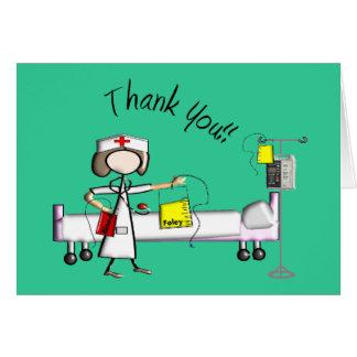 """La enfermera """"le agradece"""" los regalos tarjeton"""