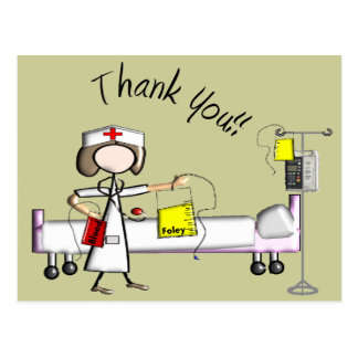 """La enfermera """"le agradece"""" los regalos postal"""