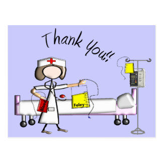 """La enfermera """"le agradece"""" los regalos tarjetas postales"""