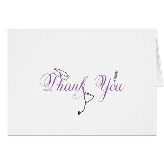 La enfermera le agradece observar la caligrafía pú felicitaciones