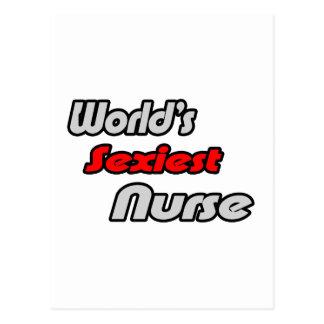 La enfermera más atractiva del mundo tarjeta postal