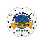 La enfermera más fresca de Psych del mundo Reloj De Pared