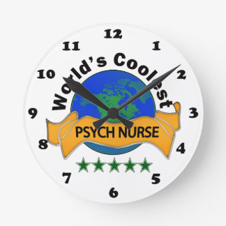 La enfermera más fresca de Psych del mundo Reloj Redondo Mediano
