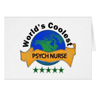 La enfermera más fresca de Psych del mundo Tarjeta De Felicitación