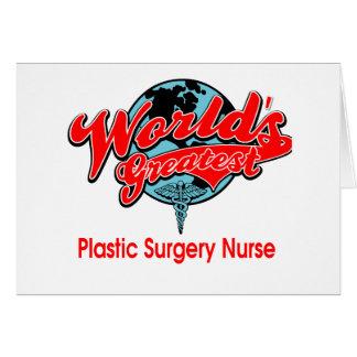 La enfermera más grande de la cirugía plástica del tarjeton