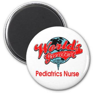 La enfermera más grande de la pediatría del mundo imán redondo 5 cm