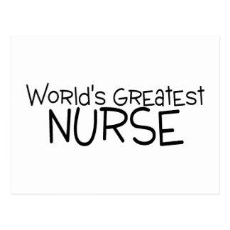 La enfermera más grande de los mundos postales