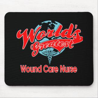 La enfermera más grande del cuidado de la herida alfombrilla de ratones
