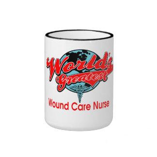 La enfermera más grande del cuidado de la herida d taza de café