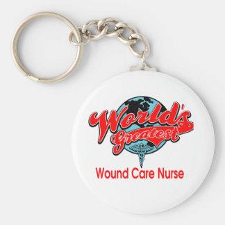 La enfermera más grande del cuidado de la herida llavero redondo tipo pin