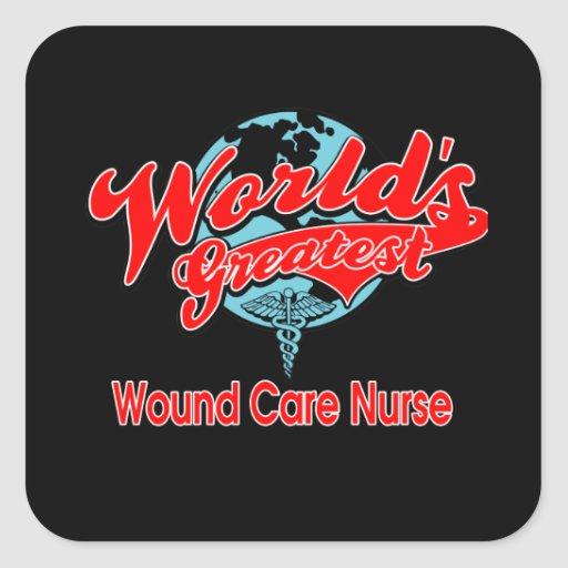 La enfermera más grande del cuidado de la herida pegatina cuadradas