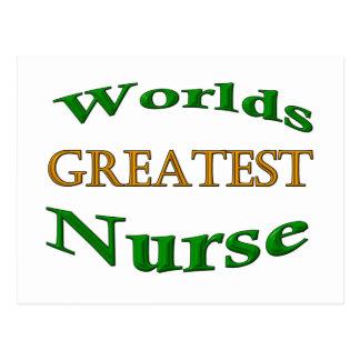 La enfermera más grande tarjeta postal