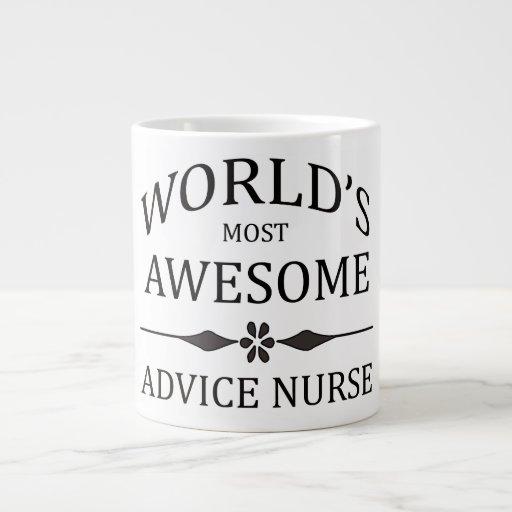 La enfermera más impresionante del consejo del mun taza de café grande