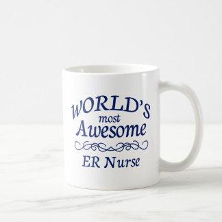 La enfermera más impresionante del ER del mundo Taza Básica Blanca