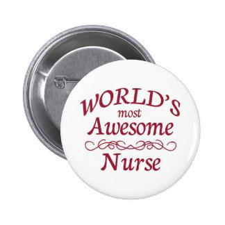 La enfermera más impresionante del mundo pin redondo 5 cm