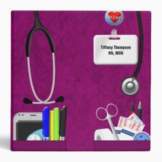 """La enfermera personalizada embolsa rosas fuertes carpeta 2"""""""